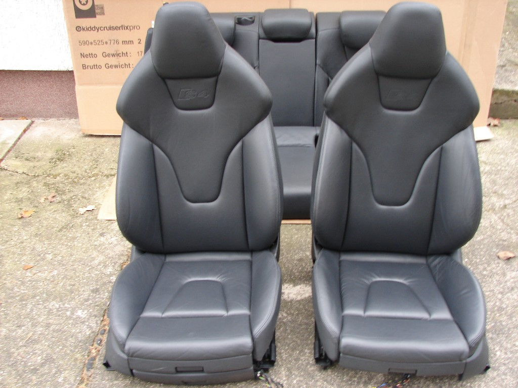 audi s4 b8 8k recaro lederausstattung ledersitze s line sitze rs4 leather seats ebay. Black Bedroom Furniture Sets. Home Design Ideas